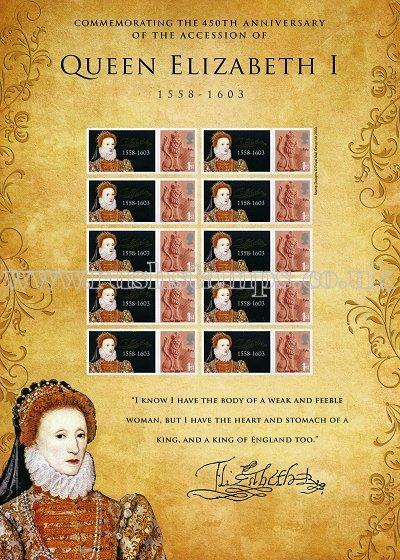 queen elizabeth 1st of england. Queen Elizabeth I Sheet of